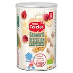 Cerelac Farmers Selection Organic Wheat, Raspberry & Banana Snack 8 Months