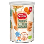 Cerelac Farmers Selection Organic Wheat Oats & Carrot Snack 10 Months