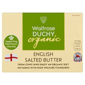 Waitrose Duchy Organic English Salted Butter at Ocado