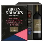 Green & Black's Organics Chocolate Bar Gift Box with Wine Bottle