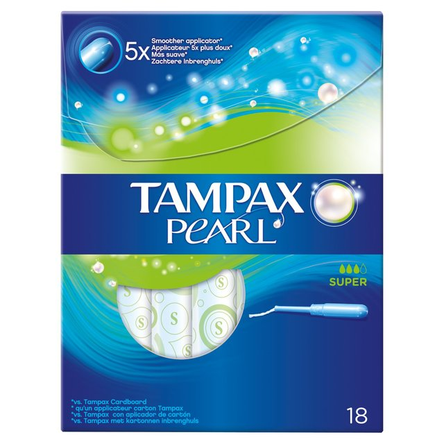 Tampax Pearl Super Applicator Tampons