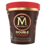 Magnum Tub Double Chocolate Strawberry Ice Cream