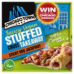 Chicago Town Takeaway Vegan Medium Stuffed Crust Sticky BBQ Jackfruit Pizza