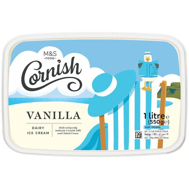 M S Clotted Cream Vanilla Ice Cream Ocado