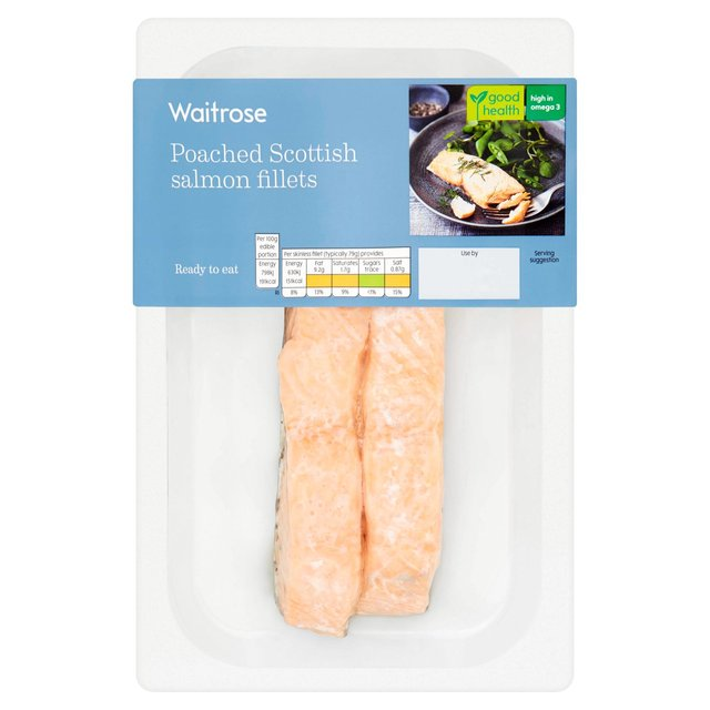 Waitrose 2 Poached Salmon Portions