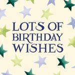 Emma Bridgewater Stars Birthday Card