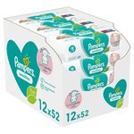 Pampers Baby Wipes Sensitive 12 x 52 per pack