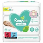 Pampers Baby Wipes Sensitive 4 x 52 per pack