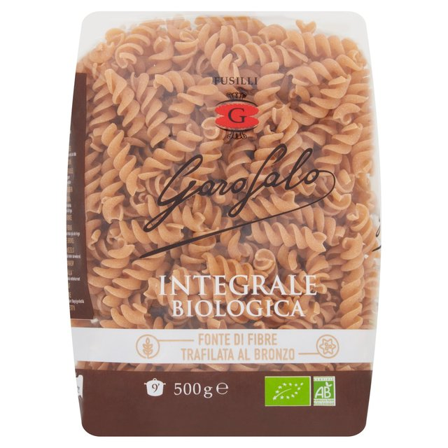 Garofalo Organic Whole Wheat Fusilli Dry Pasta
