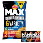 Walkers Max Double Crunch Variety Crisps 27g x