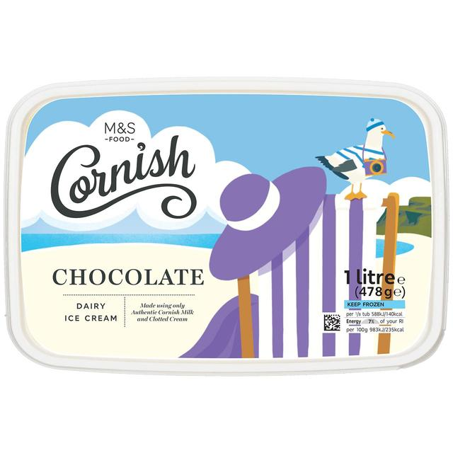 M S Clotted Cream Chocolate Ice Cream Ocado
