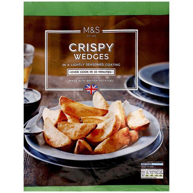 M\u0026S Crispy Wedges Frozen | Ocado