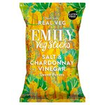 Emily Veg Crisps Salt and Chardonnay Vinegar Sweet Potato Sticks Share Bag