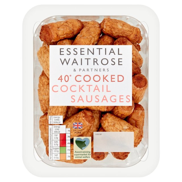 Essential Waitrose Cooked Cocktail Sausages