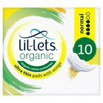 Lil-lets Organic Pads Normal
