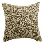 Animal Print Cotton Cushion, Khaki Green
