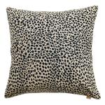Animal Print Cotton Cushion, Navy Blue