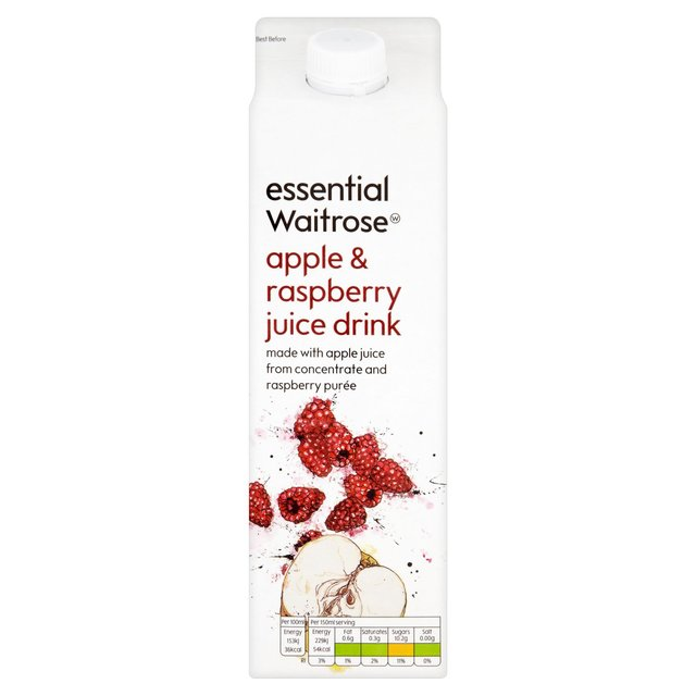 Essential Waitrose Apple & Raspberry Juice Drink