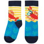Frugi Boys Organic Socks Yellow Lobster, Size 6-8