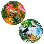 Talking Tables Tropical Fiesta Paper Plates, 23cm