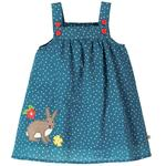 Frugi Bunny Spot Pinafore Dress (0mths - 4yrs)