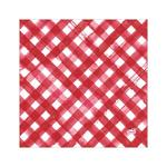 Duni Red Check 3ply Napkin, 33cm
