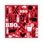 BBQ Paper Napkins, Red