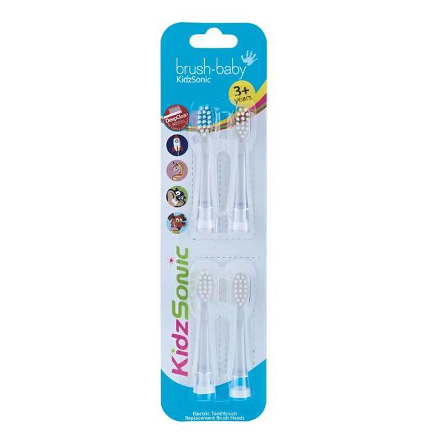 Brush-Baby KidzSonic Toothbrush 3-6 Years Replacement Brush Heads Pack of 4
