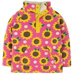 Frugi Organic Snuggle Fleece Pink Sunflowers Print