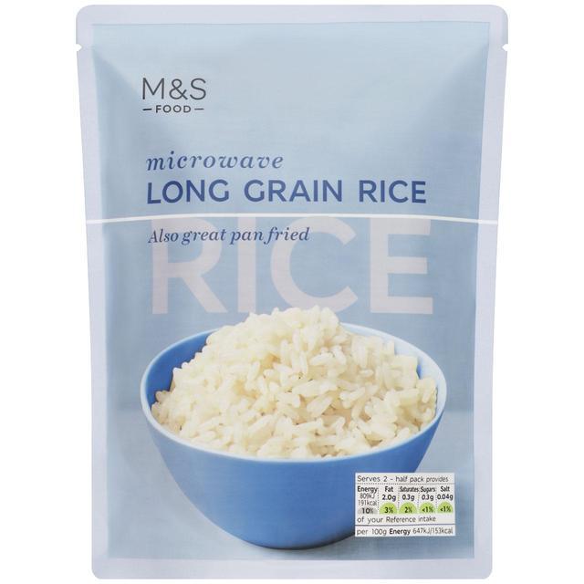 M S Microwave Long Grain Rice Ocado