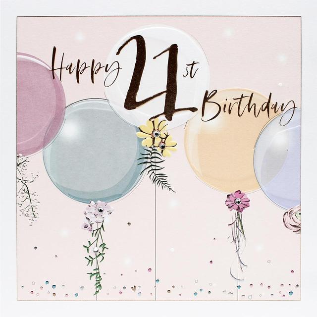 Happy 21st Birthday Card Ocado