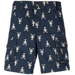 Frugi Organic Combat Shorts Lobster Print, (2 - 10yrs)