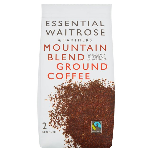 essential waitrose ground coffee mountain blend 227g from. Black Bedroom Furniture Sets. Home Design Ideas