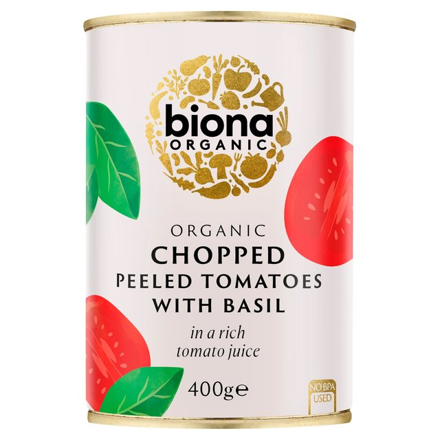Biona Organic Chopped Tomatoes with Fresh Basil