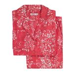 Cath Kidston Washed Rose Long PJ Set Red Extra Small