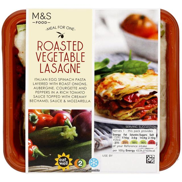 M S Roasted Vegetable Lasagne Ocado