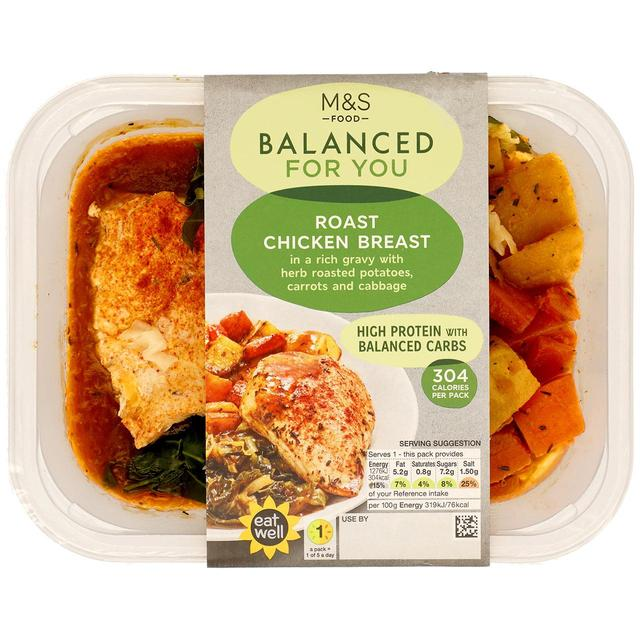 M S Balanced For You Roast Chicken Breast Ocado