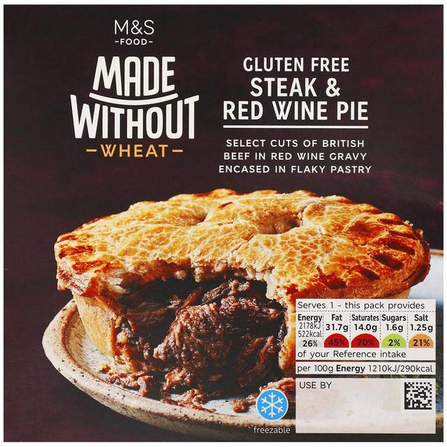 M&S Made Without Steak & Red Wine Pie | Ocado