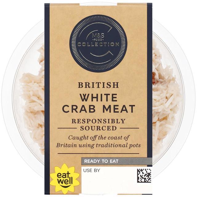 M S British White Crab Meat Ocado