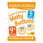 Kiddylicious Banana & Pumpkin Melty Buttons Multi