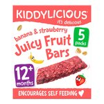 Kiddylicious Strawberry & Banana Juicy Fruit Bar