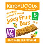 Kiddylicious Pineapple, Coconut & Mango Juicy Fruit Bar