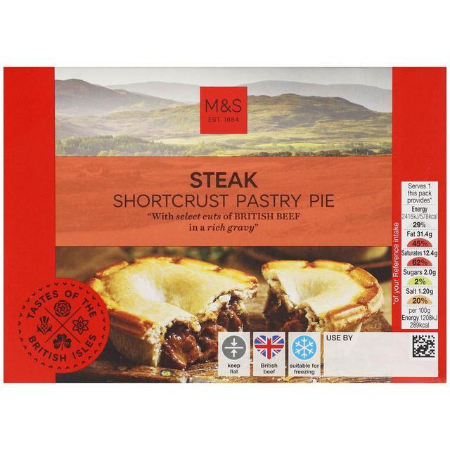 M&S Steak Shortcrust Pastry Pie   Ocado