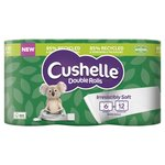 Cushelle Double Roll Toilet Tissue 6 rolls in Paper Packaging