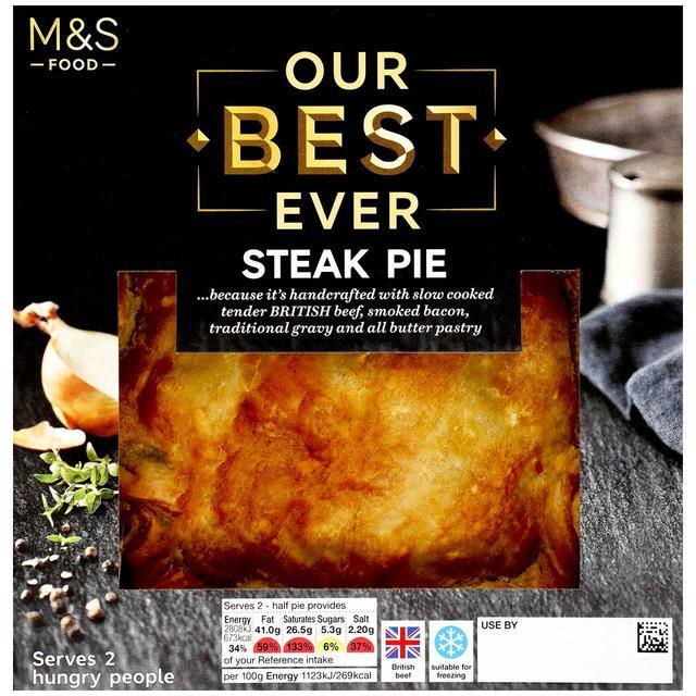 M&S Our Best Ever Steak Pie | Ocado
