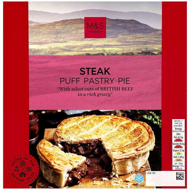 M&S Steak Puff Pastry Pie | Ocado