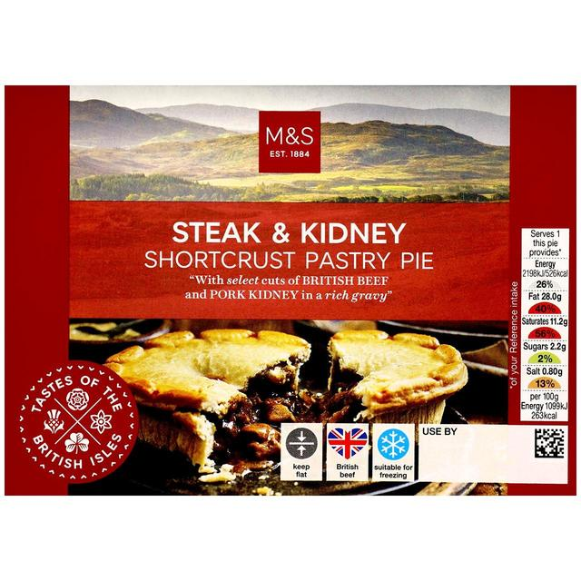 M&S British Steak & Kidney Shortcrust Pastry Pie | Ocado