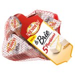 President Mini French Brie Cheese Nets 5 Pack