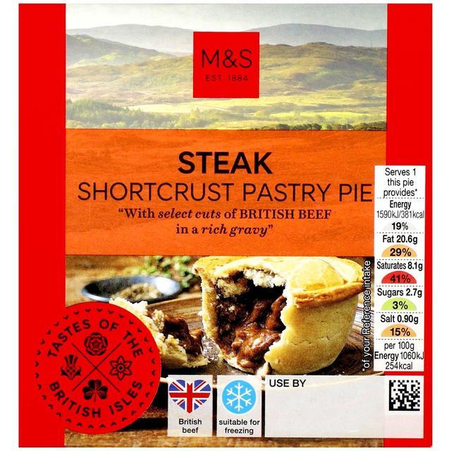 M&S Steak Shortcrust Pastry Pie | Ocado