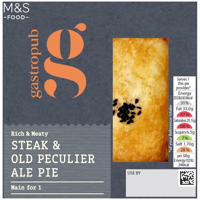 M&S Gastropub Steak & Ale Pie   Ocado
